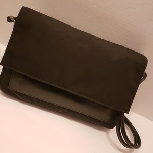 Gucci black nylon and leather shoulder bag